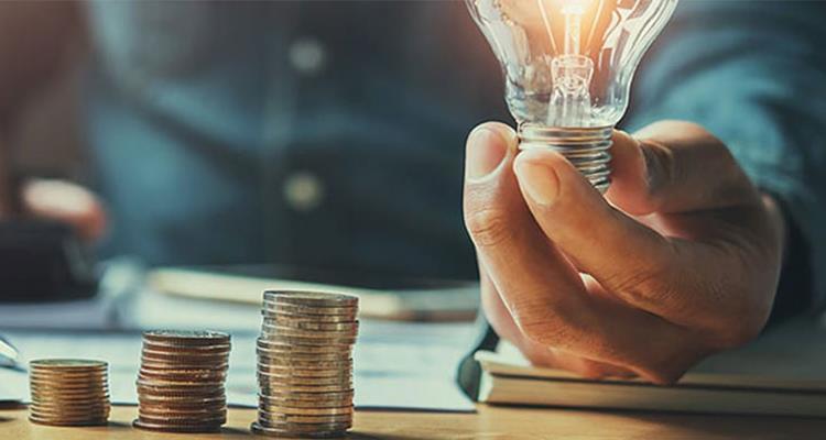 money, hand, lightbulb
